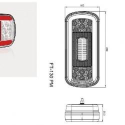 Стоп универсален диоден  6 светлинен 12-36V