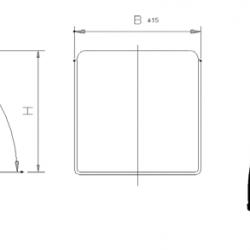 Калник  B 600 x R 550 x L 1800 x S 1100 x H 600 MM; 4.8KG