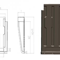 Калник B1 450xH1730xT130mm. 1.45kg. -Schmitz-