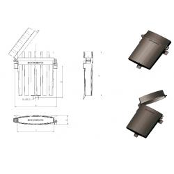Кутия за документи пластмасова- A 360 x B 270 x C 76mm; 0.55kg
