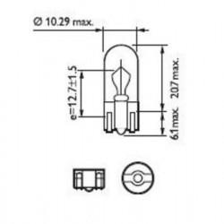 Крушка W3W 12V/3W W2.1X9.5d