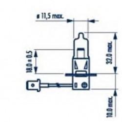Крушка H3 12V/55W  PK22s