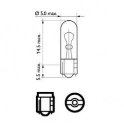 Крушка W1.2W 12V 1.2W W2X4.6d