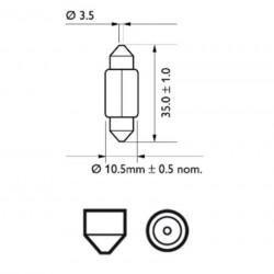 Крушка 12V,5W,SV8.5