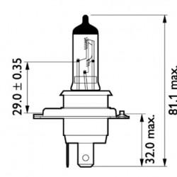Крушка H4 24V 75/70W P43t
