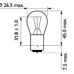 Крушка P21W 24/21W BA15s