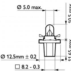 Крушка 24V 1.2W BAX10D-зелена