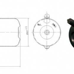 Резервоар горивен универсален, Хладилен, Агрегат  PVC 240L 1400х410х543 -Mercedes-Benz Atego-