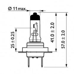 Крушка H7 24V 70W PX26d,MasterDuty(усилена)