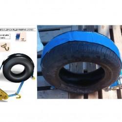 Колан за укрепване на товари за автовоз с текстилна подложка -0.2м.+2.5м., шарнирна J-кука-