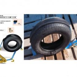 Колан за укрепване на товари за автовоз с 3 гумени протектора -0.2м.+2.5м.,шарнирна J кука