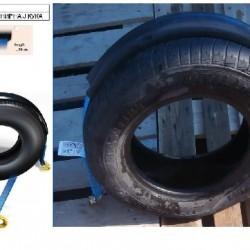 Колан за укрепване на товари за автовоз с цял гумен протектор -0.2M+2.5м. шарнирна J-кука-