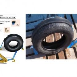 Колан за укрепване на товари за автовоз с гумен протектор -0.2м.+2.5м. -J кука-