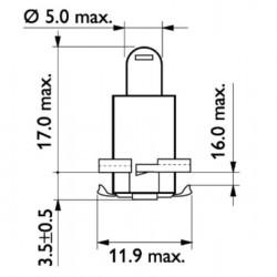 Крушка 24V/1.2W EBS R4