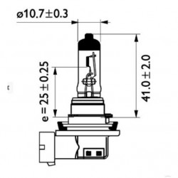 Крушка H11 , 24V/70W PGJ 19-2, Master Duty