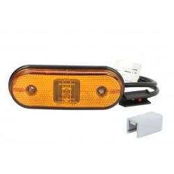 Габарит диоден оранжев, 0,5m кабел и aspock конектор, 119x44 mm