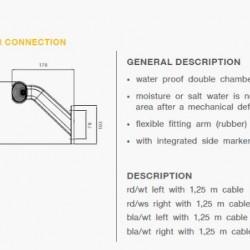 Рогче с конектор RH P&R 1.25м, дължина на кабела-