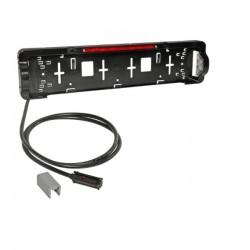 Държач за номер с осветител без стоп LED 1,0m P&R 12/24V