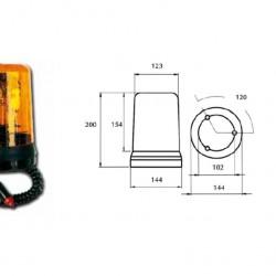 Маяк магнитен Н3 оранжев 24V
