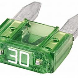 Бушон мини зелен 30А - цената е за 1 бушон