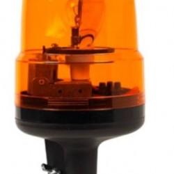 Маяк за монтаж тип тръба, въртящ се, оранжев BA15S 12V