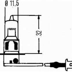 Крушка H3 12V/55W, PK22S