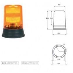 Маяк ксенонов тип тръба, оранжев  10-36V