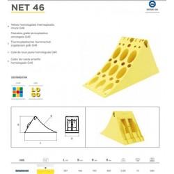 Клин стопорен жълт, с метален ръб 383х160х193, малък