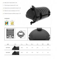 Резервоар за вода с резервоар за сапун 495х350х360 / ЧЕРЕН-30L/