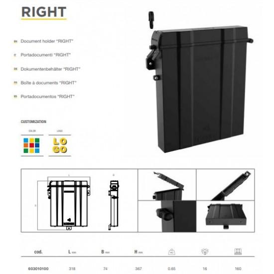 Кутия за документи пластмасова, правоъгълна 318х74х367 -Right-