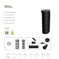 Кутия за документи пластмасова, цилиндрична 124х115х340 -ROLL-