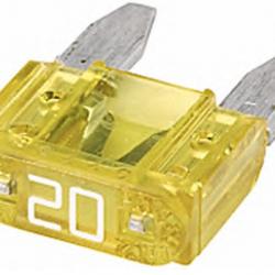 Бушон жълт мини 20А - цената е за 1 бушон