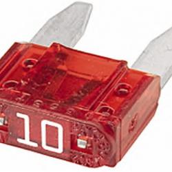 Бушон червен мини 10A - цената е за 1 бушон