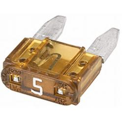 Бушон  бежов мини 5A - цената е за 1 бушон