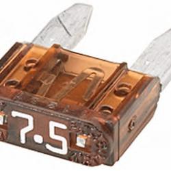 Бушон кафяв мини 7.5A - цената е за 1 бушон