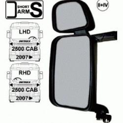 Огледало основно двойно LH с нагревател и ел. управление, II + IV с късо рамо,24V,R1200+300-Scania 4/R/P/T >'07-