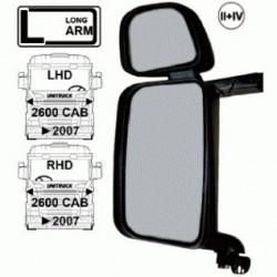 Огледало основно двойно RH с нагревател и ел. управление, II + IV с дълго рамо,24V,R1200+300 -Scania 4/R/P/T >'07-