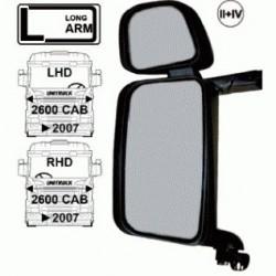 Огледало основно двойно LH с нагревател и ел. управление, II + IV с дълго рамо, 24V,R1200+300 -Scania 4/R/P/T '07>-