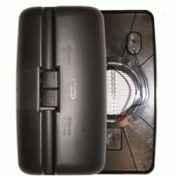 Огледало основно RH / LH с нагревател и ел. управление, II 24V,R1200,400x220mm -ERF-EC('92-'00)/DAF75/85/95XF/Volvo-FL series-