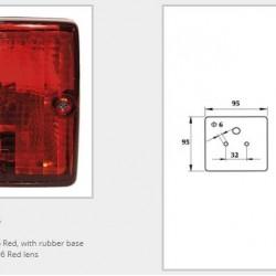 Халоген червен със стойка (квадратен)