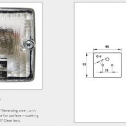 Фар мъгла заден бял/със стойка (квадратен)