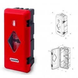 Кутия за пожарогасител ADAMANT, червена с прозорец, 6 kg, 675х310х250