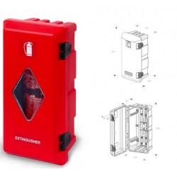Кутия за пожарогасител ADAMANT, червена с прозорец, 6 kg, 611х310х250