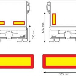 Табела силует МПС камион 2/ хенгер 2, поцинкована, 565x196x0.8 мм