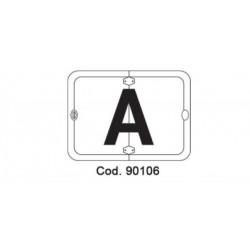 Табела сгъваема, вертикална -> буква