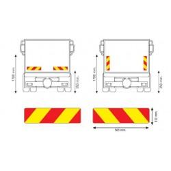 Табела светлоотразителна, алуминиева, камион 1.0мм. 565х132 RF