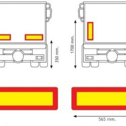 Табела светлоотразителна, алуминиева за ремарке 1.0мм. 565х196 RF