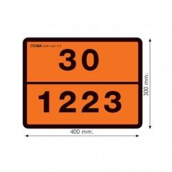 Табела ADR, релефна,стоманена 0.8мм. 300х400мм. 30/1223 -КЕРОСИН-