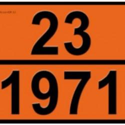 Табела ADR, стоманена 0.8мм. 300х400мм. 23/1971 -ПРИРОДЕН ГАЗ-