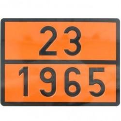 Табела ADR, релефна, стоманена 0.8мм. 300х400 23/1965 -ПРОПАНБУТАН-